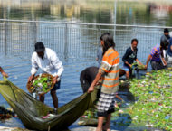 Beggars are cleaning Gomti river Ghats