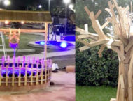 Using waste material to beautify parks